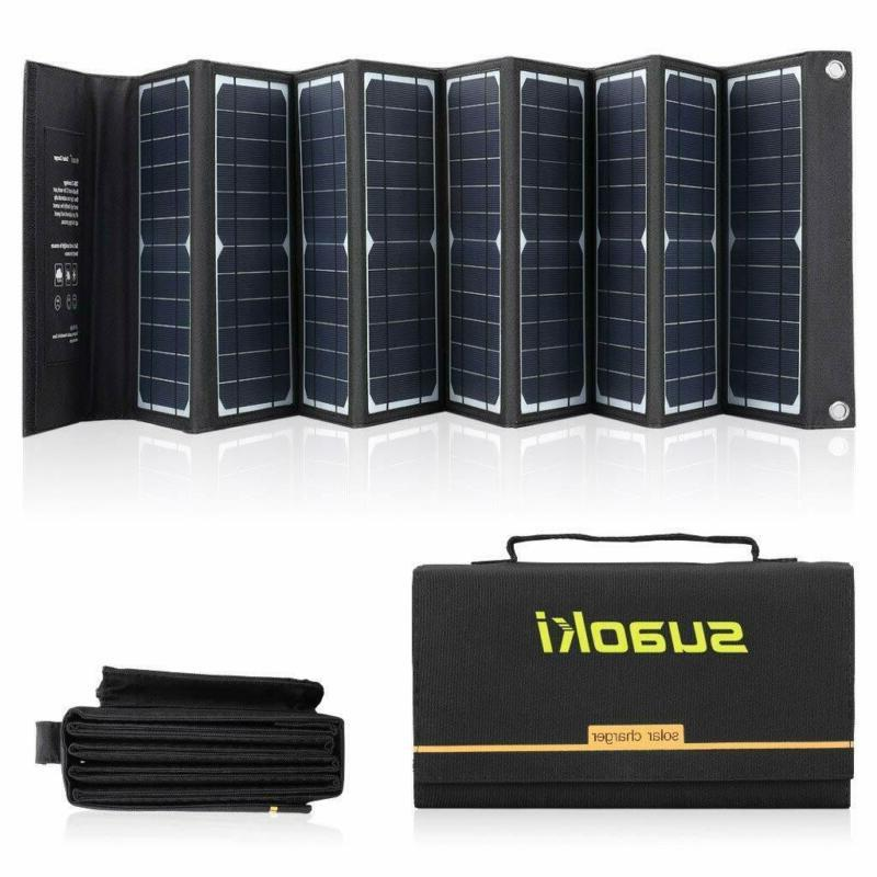 solar charger 60w portable solar panel foldable