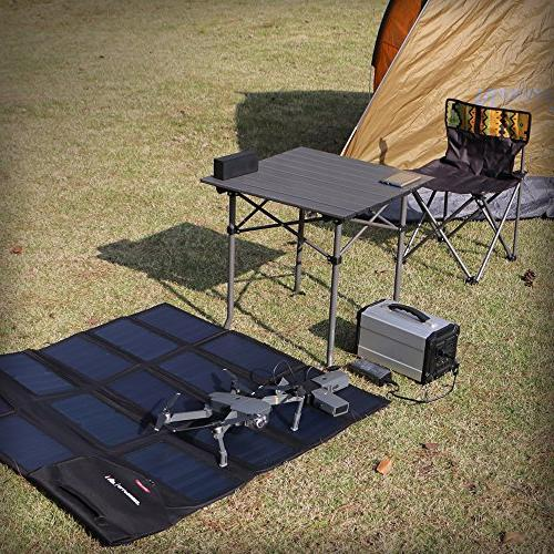 ALLPOWERS 100W Portable Solar Panel for Samsung, Notebooks, 12v Boat, Battery, Hiking