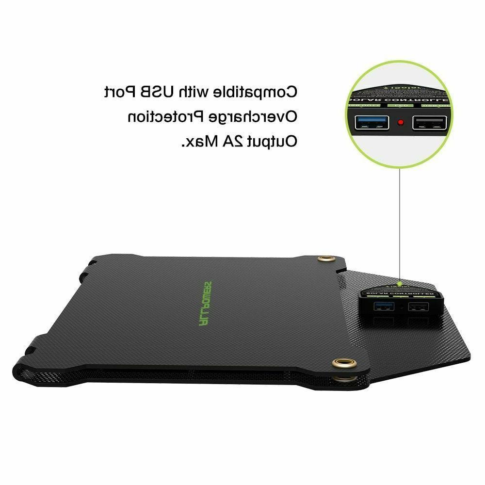 Solar Charger Monocrystalline Silicon Dual USB Panel Power