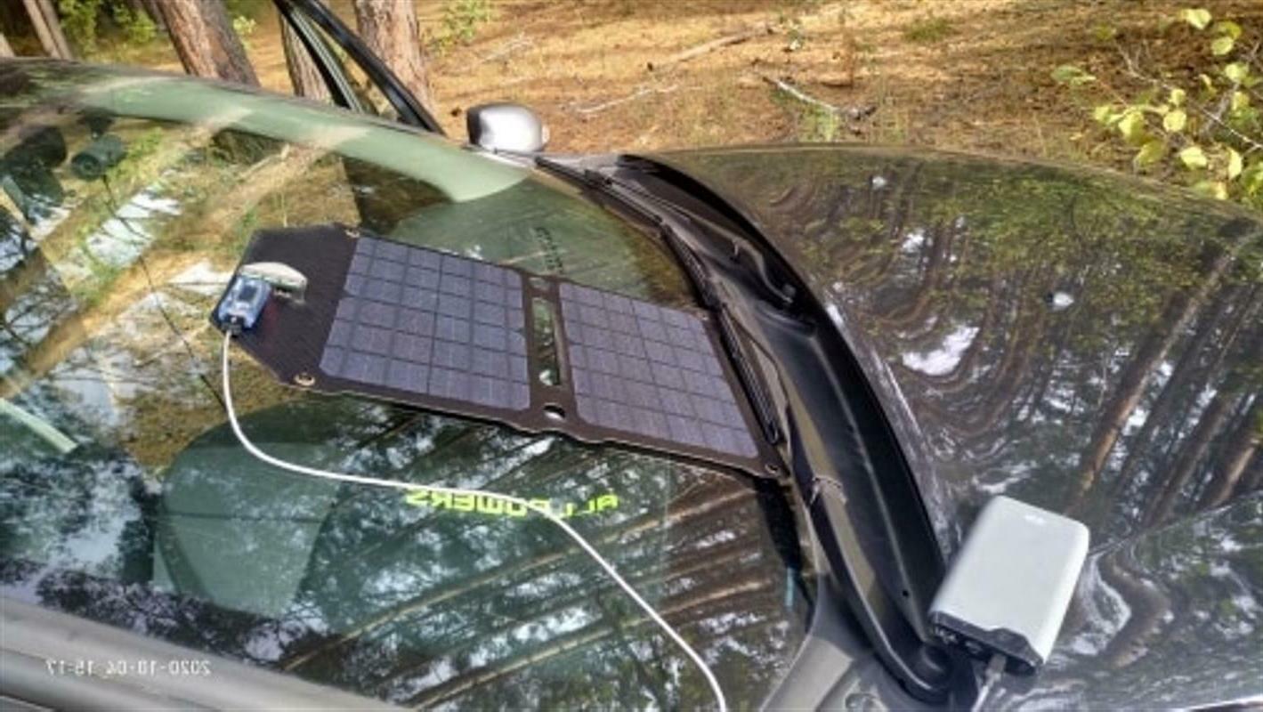 Solar Monocrystalline Silicon Dual USB Foldable