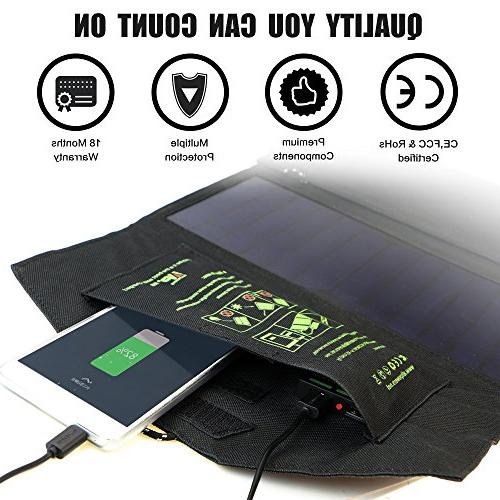 ALLPOWERS 21W Solar Charger Dual USB Port Efficiency Outdoor for