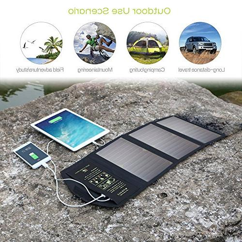 ALLPOWERS Solar Panel Charger with Dual Port High Efficiency Solar for Cell