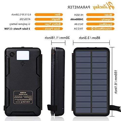 Hiluckey Solar Outdoor Portable Charger External Bank Samsung Galaxy, Other