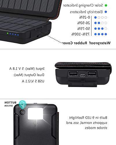 Hiluckey 24000mAh Battery Bank iPad, Samsung Galaxy, Android and