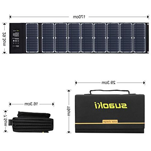SUAOKI Solar Charger Portable High Efficiency 5V 18V DC Charger for GPS iPhone Camera