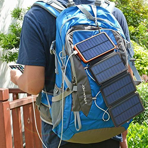 25000mAh Solar Charger ADDTOP Portable Waterproof Compatible Most Tablets More