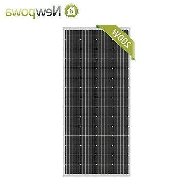 Newpowa 200 Watts Solar Panel Monocrystalline High efficienc