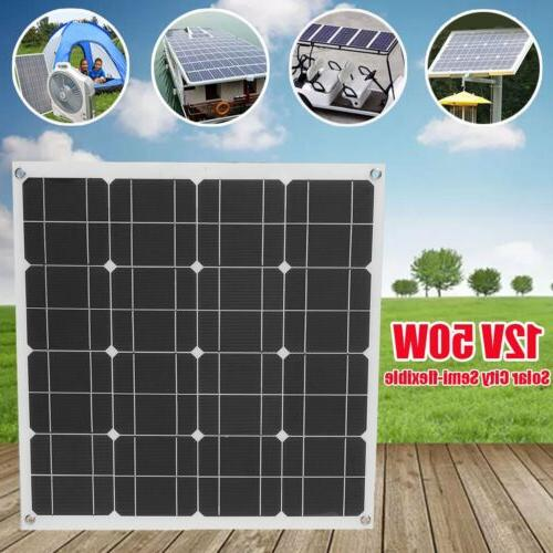 50Watt 12Volt Monocrystalline Solar Panel Mono Off Grid Powe