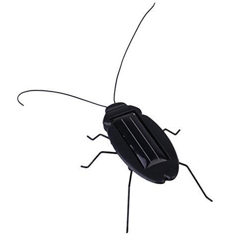 solar energy powered robot cockroach