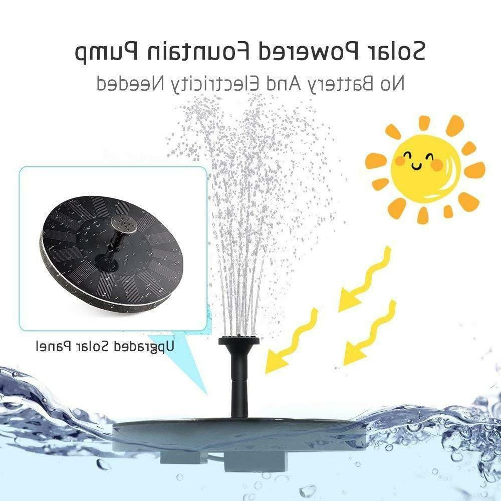 Solar Fountain Bird Fountain Pump Kit