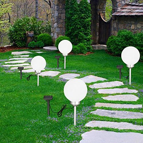 Maggift Multicolor Solar Garden Lights Changing Globe Lights Outdoor, Yard, Patio, Landscape, Home, Automatically