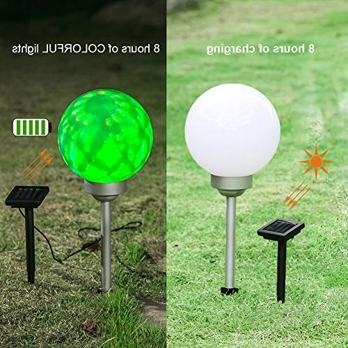 Maggift Garden Lights Color Changing Globe Lights Patio, Path, Landscape, Home, Automatically Rotate
