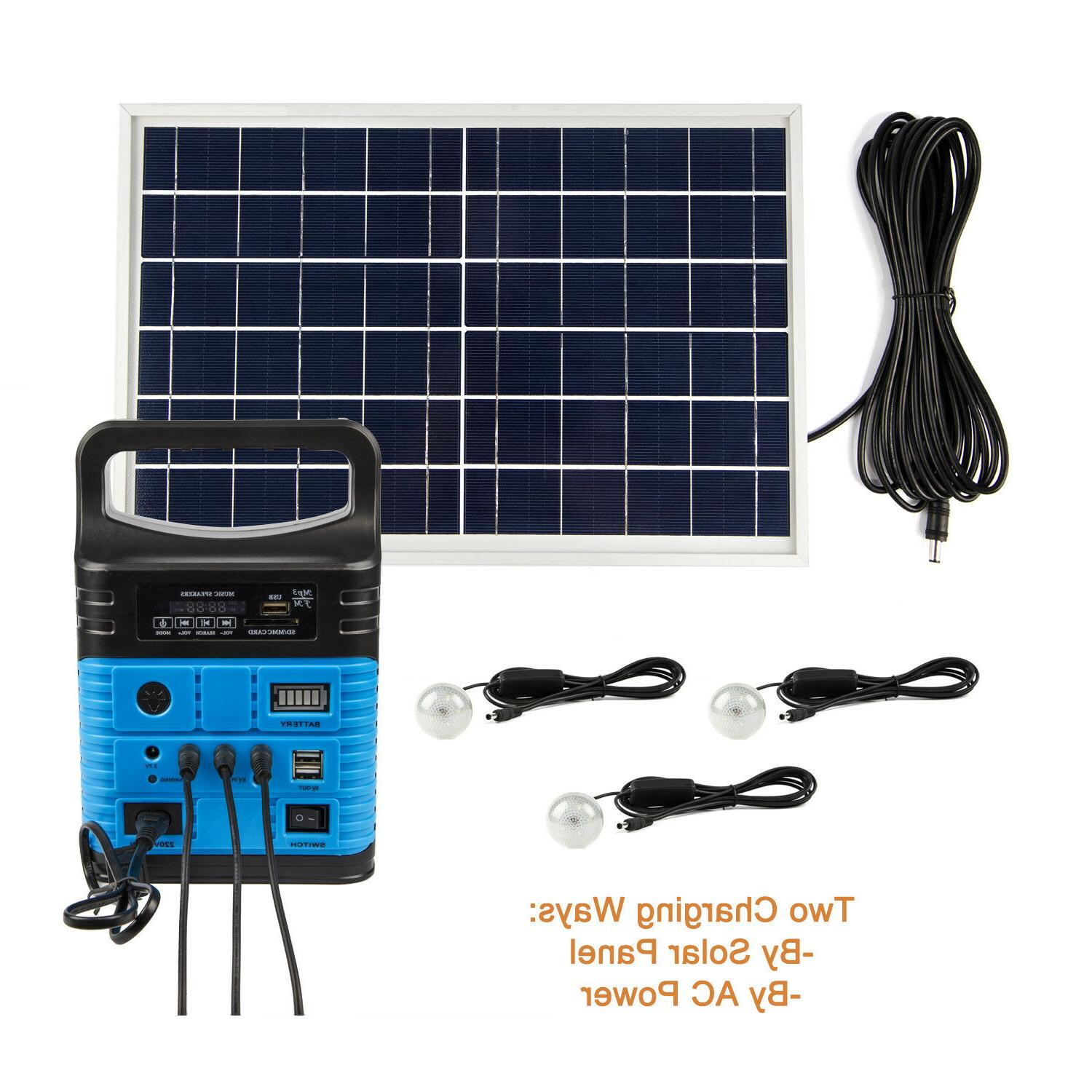 Solar Lighting System with Lamps
