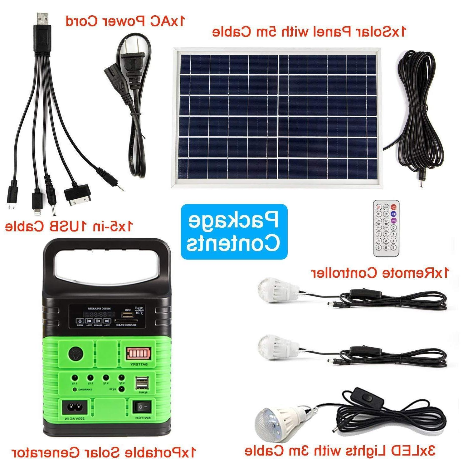 Solar Lighting System 12V 10W with Lamps