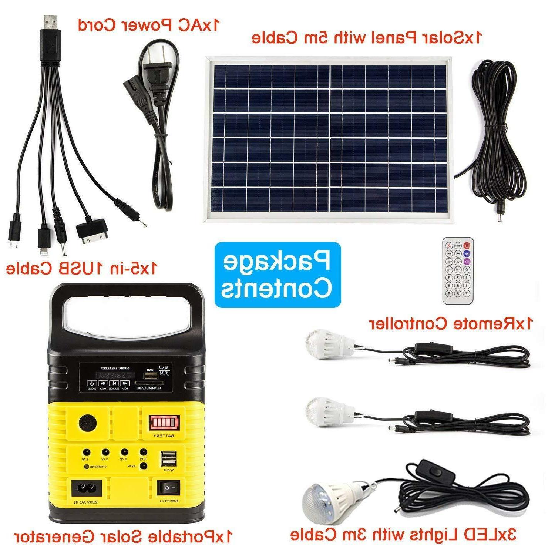 10W Generator Power Inverter 6W Solar Panels Yellow