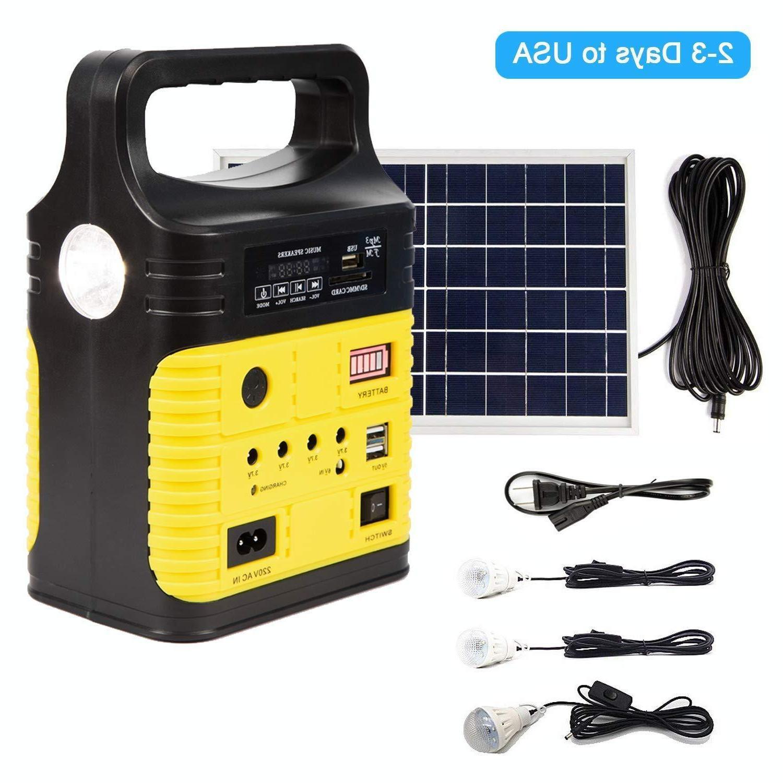 solar generator lighting home system kit 12v