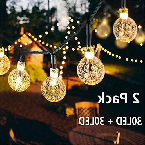 solar globe string lights 30