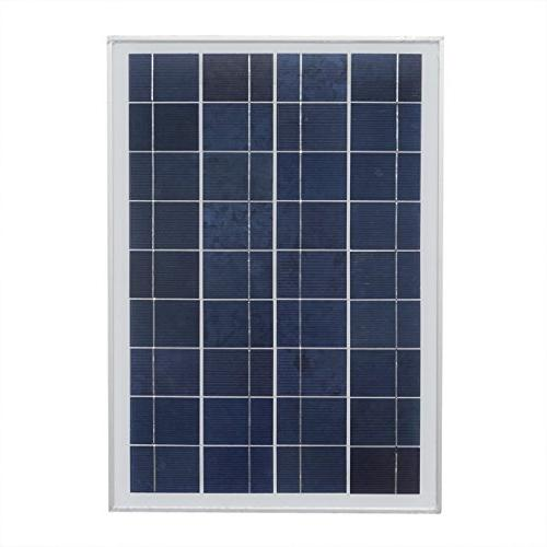 ECO-WORTHY Watt Solar Kits: 1pc 25W Polycrystalline Solar Panel with Feet Wire + with Feet Cable + Charge