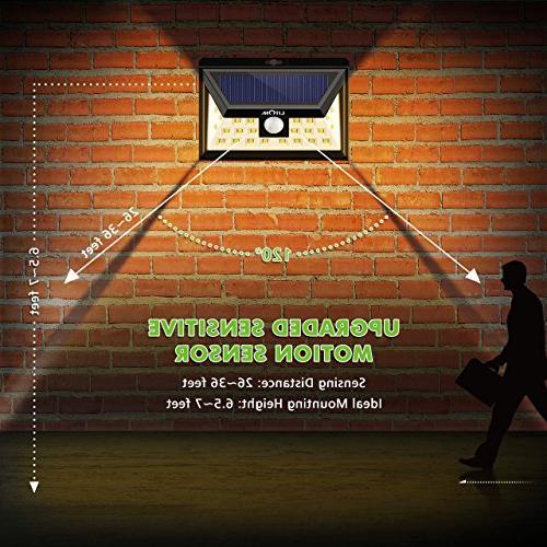 LITOM Lights, LED Motion Sensor Solar Lights Super Bright Wide Angle Security Light for Door, Deck, Porch, Shed, Walkway, Fence