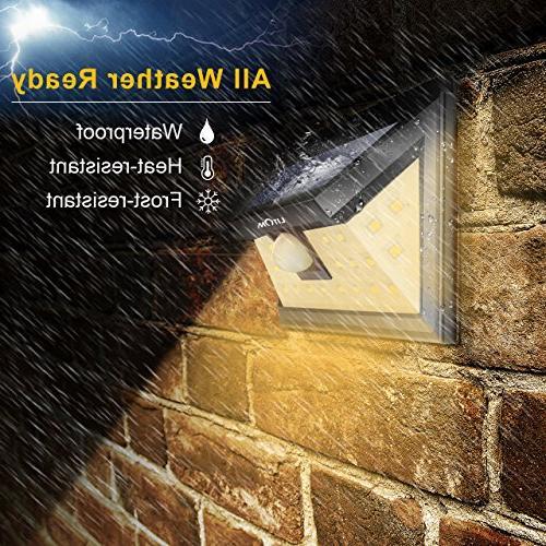LITOM Solar Lights, LED Lights Warm Light Super Bright Door, Deck, Porch, Shed,