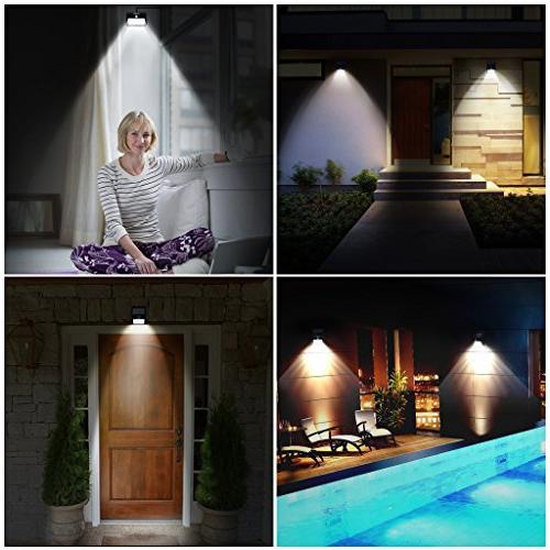 SUAOKI Solar Super Bright Waterproof Light Design Wall Light for Garden, 1