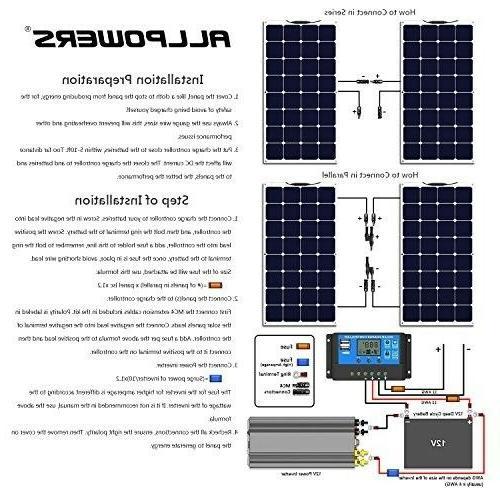 ALLPOWERS Panel 18V 12V Solar