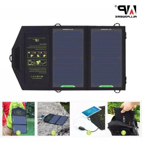 solar panel 10w 5v charger portable battery