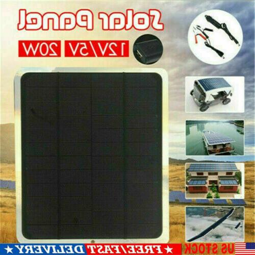 Solar Panel 12V Battery Charger Boat