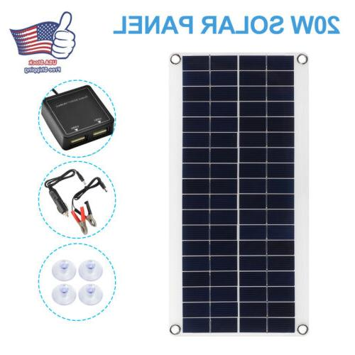 solar panel 20w trickle charge battery charger