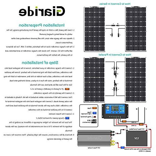 Solar Panel, 18V 12V Cell MC4 Connectors Flexible Volt Battery, RV, Boat, Car,