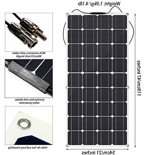 Solar 12V Cell Flexible Solar Panel for Boat,