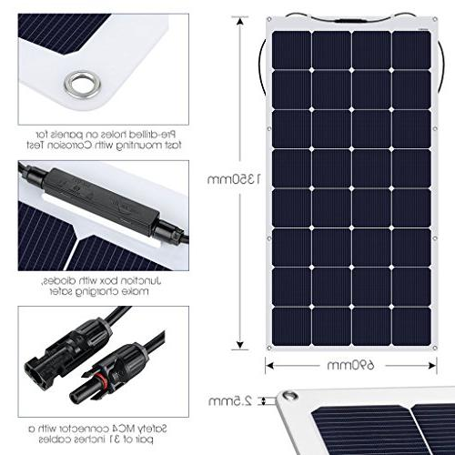 SUAOKI 18V Solar Panel Flexible Connector Charging for Boat