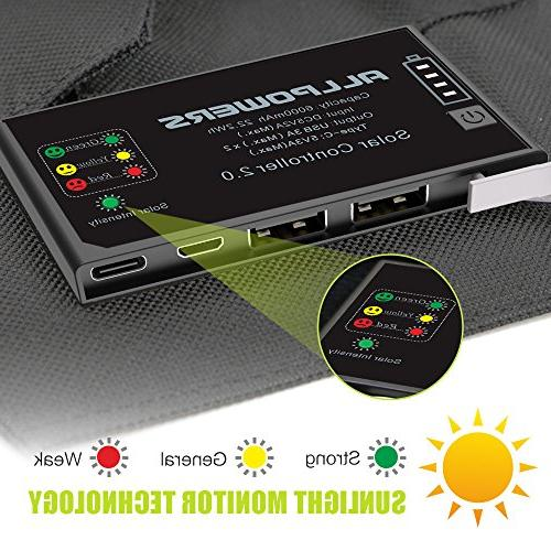 ALLPOWERS with Battery, USB Exclusive Battery Controller, SunPower Solar for