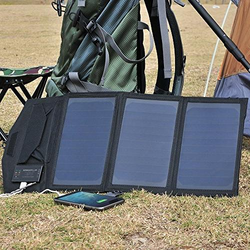 ALLPOWERS with USB Battery SunPower Panel, Solar Power Bank for Cell