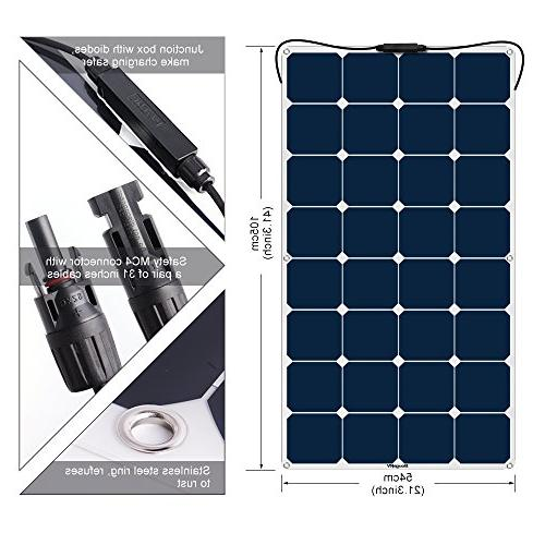 Panel ETFE Cell Power Ultra with Connector Travel Trailer Car SUV Cabin Tent, Battery