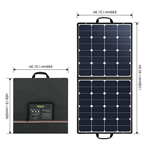SUAOKI 18V Solar Charger Cell Foldable with Dual , Laptop Connectors Laptops, Car Power Source