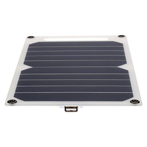 Lixada 10W Solar Charger 5V USB Ports for High Effiency Use Portable Monocrystalline Silicon