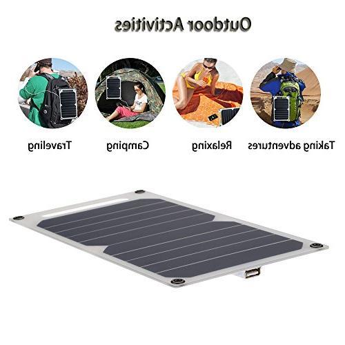 Lixada Solar Panel Charger 5V USB for Effiency Outdoor Lighting Use Portable Thin Monocrystalline
