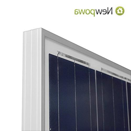 Newpowa Watt 160W 12V Solar Panel High Efficiency Poly RV Marine Boat Off