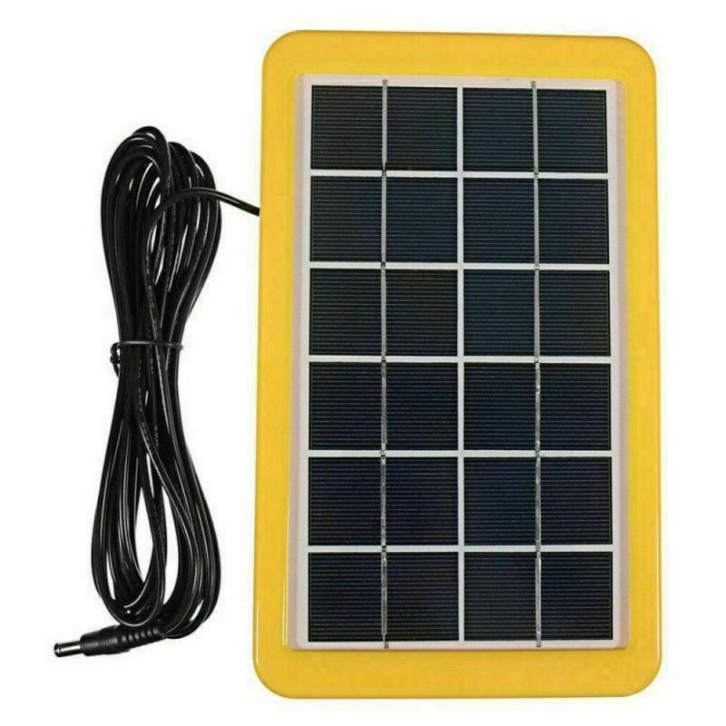 Solar Panel Portable Kit Light 12V Charger Camping