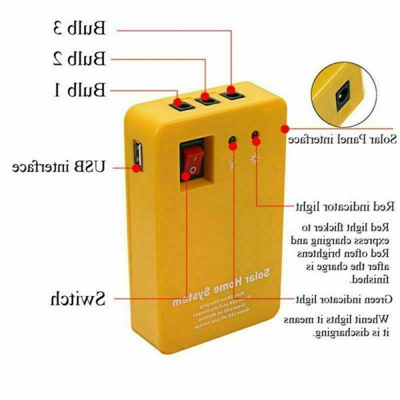 Solar Panel Portable Light 12V USB Camping