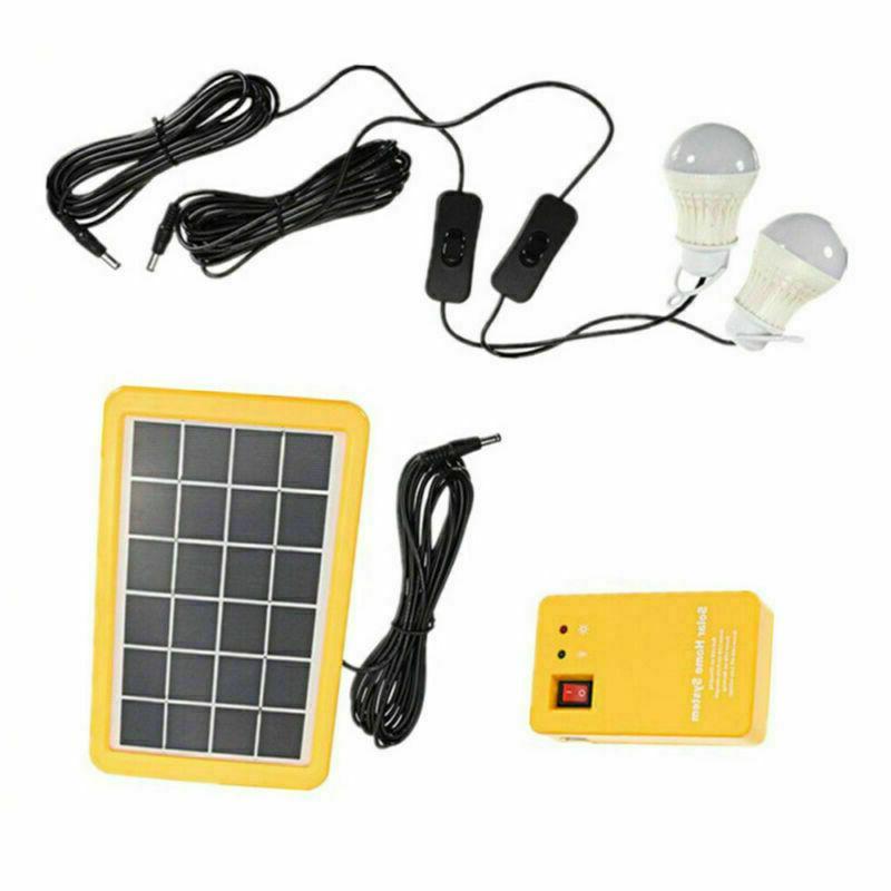 Solar Panel Light USB Camping