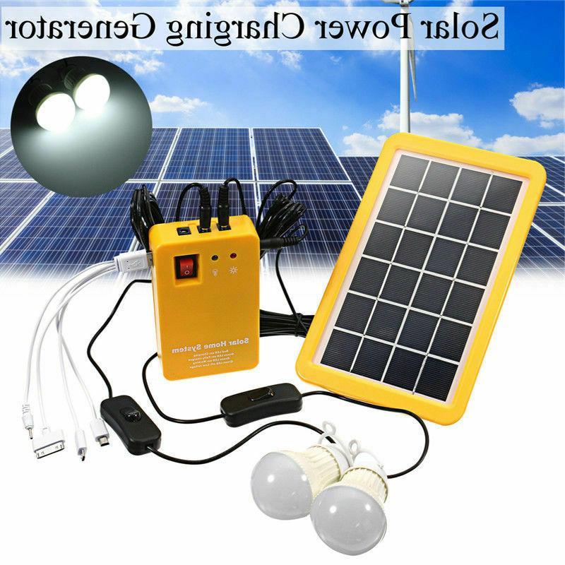 solar panel generator system portable home kit