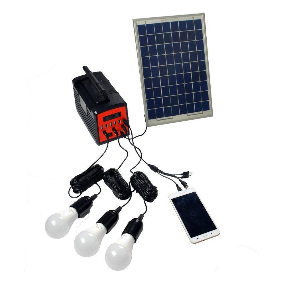 12V Solar Home System USB LED