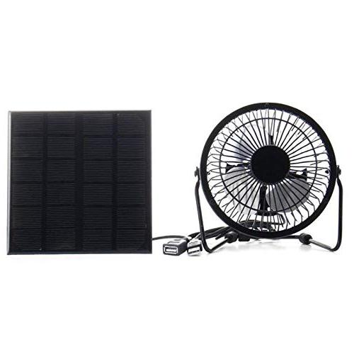 solar panel iron fan cooling