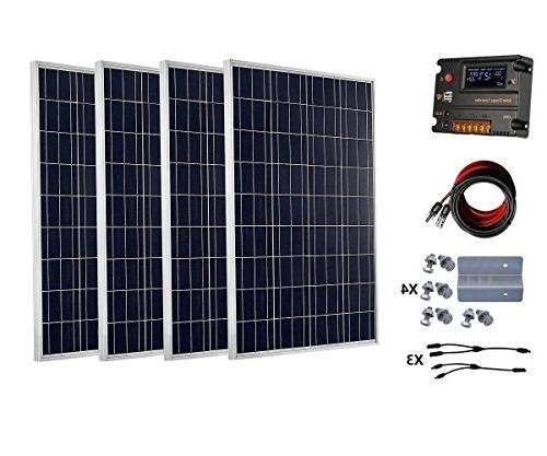 ECO-WORTHY 400 Watts Solar Panel Kit With 20A LCD Charge Controller for 24  Volt Battery System