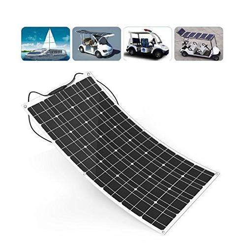 ALLPOWERS 18V 100W Solar Charger Lightweight with Connector Charging Boat Tent