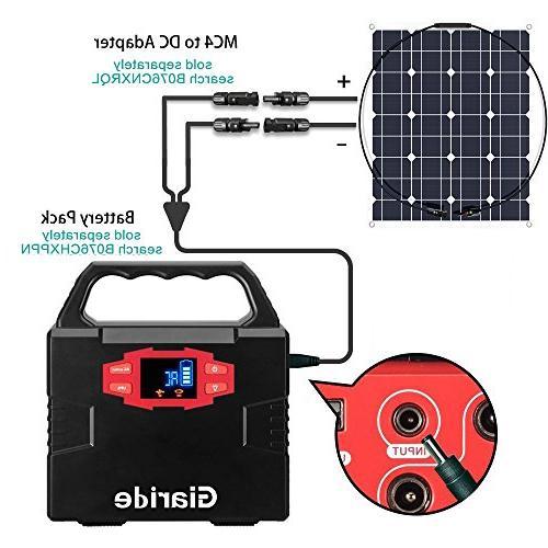 GIARIDE 50W 18V Solar Cell Flexible Bendable Off-Grid Solar Power Charger for 12V Battery