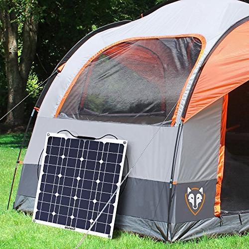 GIARIDE 12V Solar Panel Flexible Bendable Lightweight Off-Grid Solar Charger for Boat, Caravans, and 12V