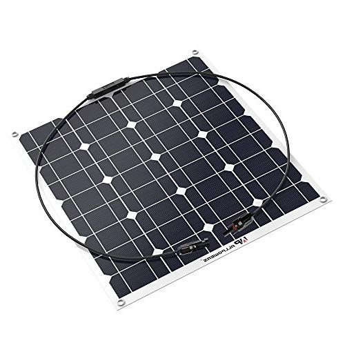 GIARIDE 12V Solar Off-Grid Solar Power System Charger Camping, Boat, Caravans, 12V Battery